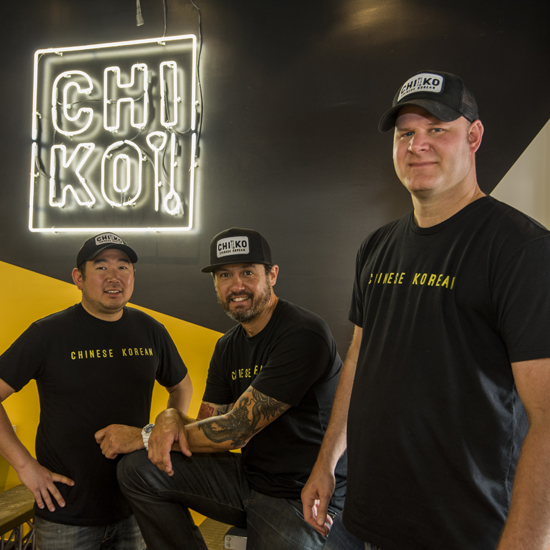 Scott Drewno, Drew Kim & Danny Lee Head Shot